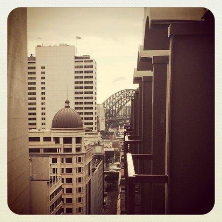 Radisson Blu Plaza Hotel Sydney: from the balcony