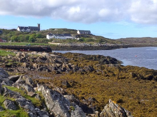 Isle of Coll Hotel: looking back at the Coll Hotel