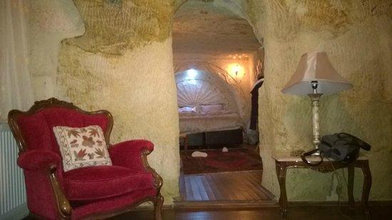 Cappadocia Castle Cave Hotel: vue de la chambre