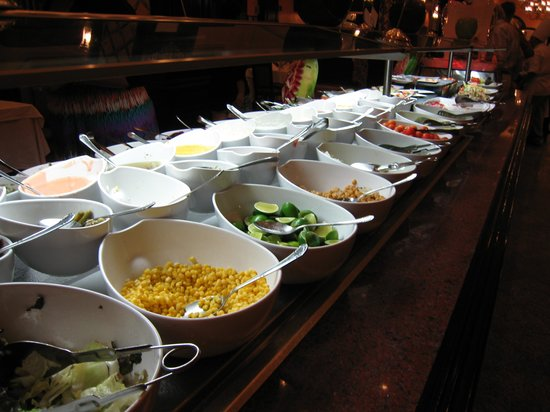 Hotel Riu Palace Riviera Maya: Salad Bar