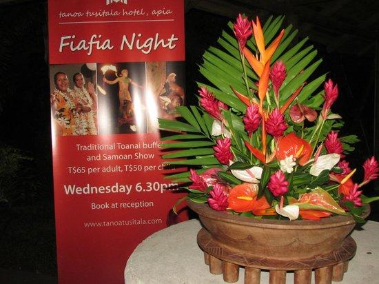 Tanoa Tusitala Hotel: Fiafia night May 2014