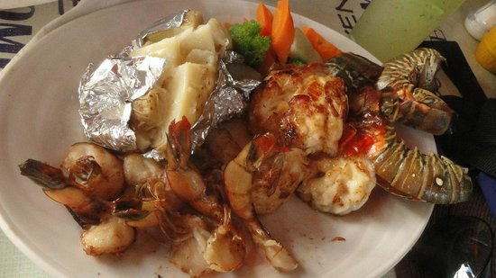Calypso´s Comida Mexicana y Mariscos: Refeição de mariscos