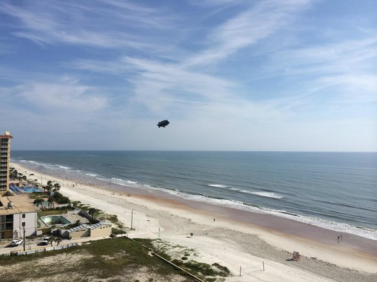 Daytona Beach Regency : View of the Goodyear Blimp from our room.