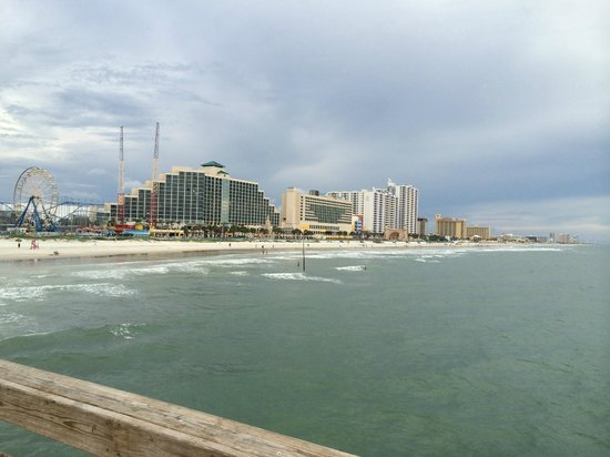 Daytona Beach Regency : View of the hotel from the Pier