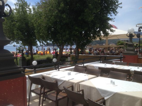 Club Belcekiz Beach Hotel: View from outdoor dining area