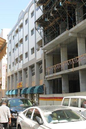 outside of noisy Sadaf hotel.