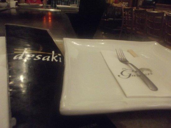 Desaki: plate setting