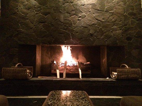 Padma Hotel Bandung: Fireplace at lobby