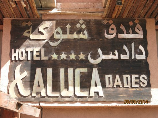 Hotel Xaluca Dades: insegna