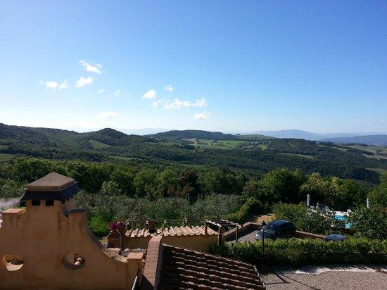 Relais Villa Sensano: Vista dal balcone della Jacuzzi