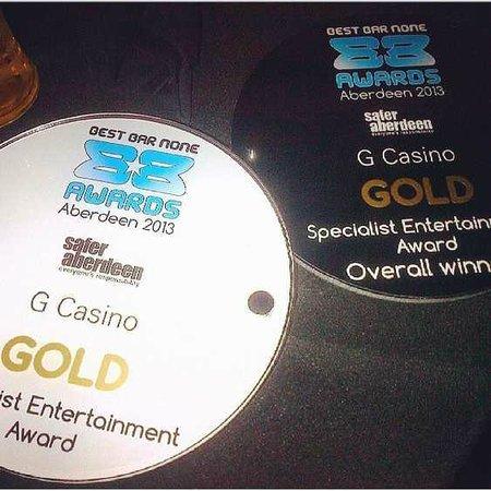 G Casino Aberdeen Hogmanay Grosvenor Casino: Best Bar None Award- Specialist Enetrtainment Venue
