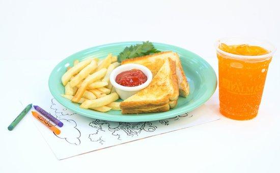 Las Palmas Mexican Restaurant: Kid's Grilled Cheese Sandwich