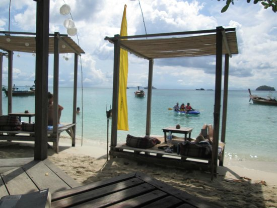 Castaway Resort Koh Lipe: One of the decks on the waters edge