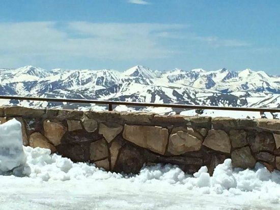Breathtaking views at the summit of Mount Evans.