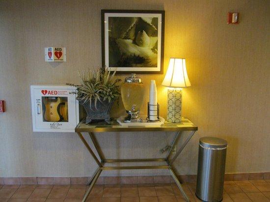 La Quinta Inn & Suites Sunrise Sawgrass Mills: agua que fica na entrada do lobby
