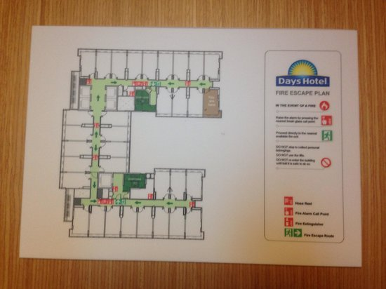 Days Hotel Singapore At Zhongshan Park : Days Hotel's Floor Plan