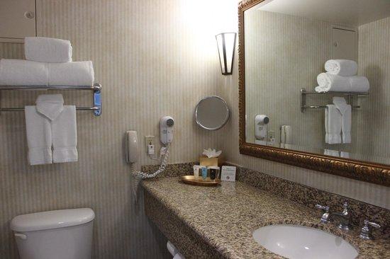 Crowne Plaza Los Angeles - Commerce Casino: Baño espacioso y limpio