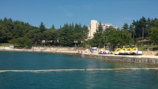 Valamar Rubin Hotel: External view from nearby pier