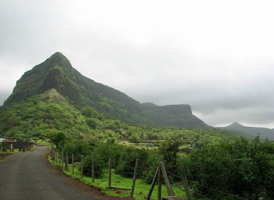 Visapur fort during monsoon