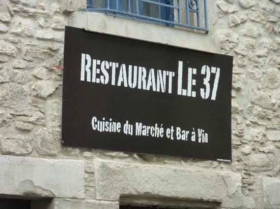 Restaurant le 37 : LA ENTRADA AL RESTAURANTE