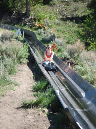 Utah Olympic Park : The finish of the Alpine Coaster