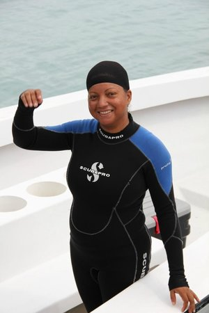 Turneffe Island Resort : Our amazing dive master Marcella