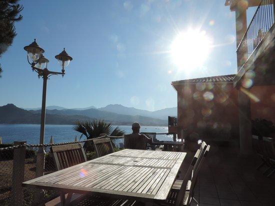 Hotel Castel d'Orcino : lever de soleil