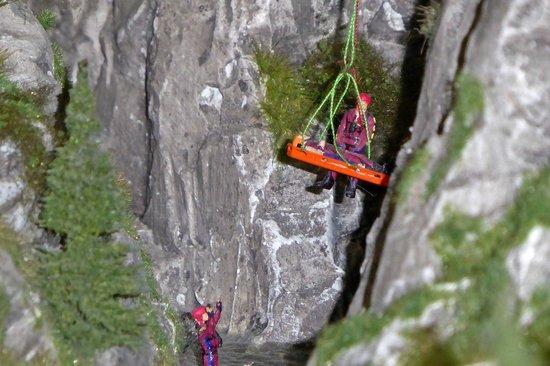 Miniatur Wunderland: Bergretter im Einsatz