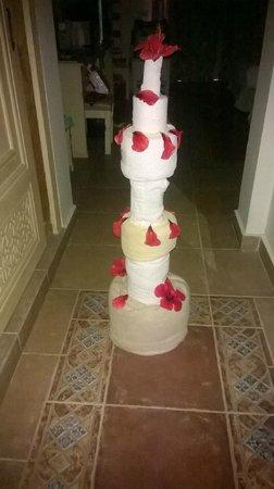 SENTIDO Mamlouk Palace Resort : A towel birthday cake!