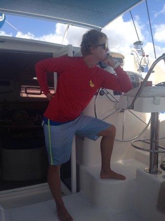 Calabaza Sailing Cruises: Bobby posing , very camp