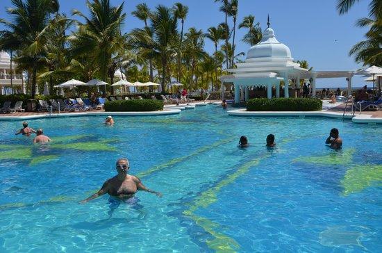Hotel Riu Palace Punta Cana : piscina,( lastima que faltaban algunas venecitas en el fondo