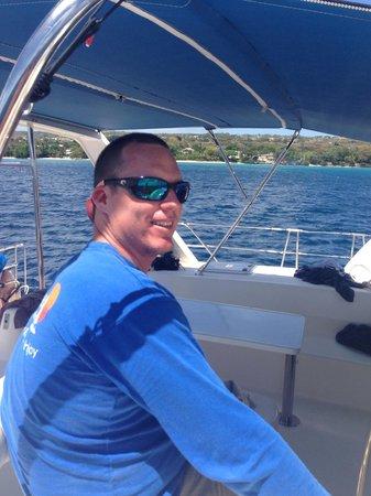 Calabaza Sailing Cruises: Danny tryin to look cool