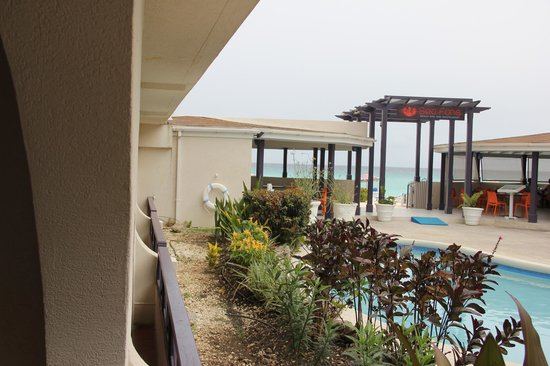 Infinity on the Beach: View from room 106