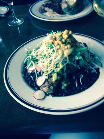 Arties's: Grouper on black beans is to die for!