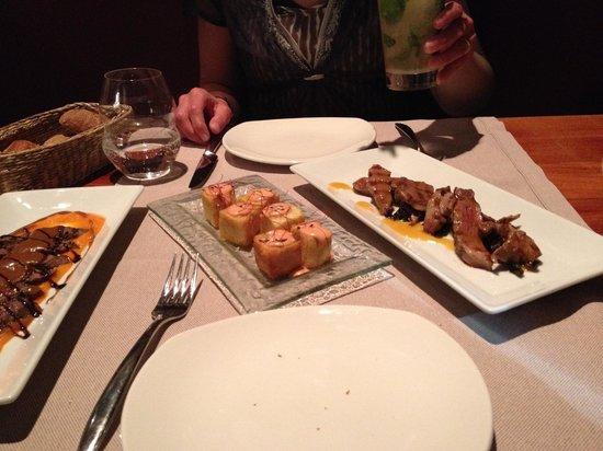 Forn de Sant Joan : Three of the many nice tapas dishes...