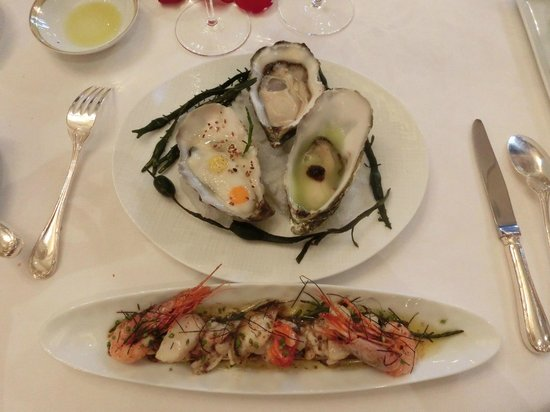 Le Cinq : Iodized shellfish