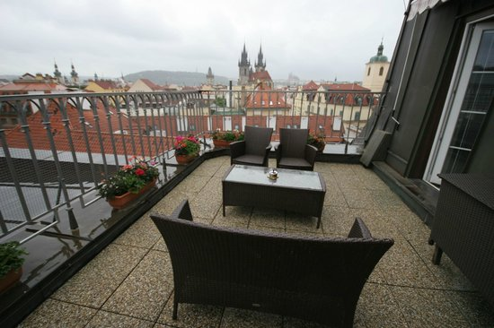 Room 711 terrace picture of grand hotel bohemia prague for Grand hotel bohemia hotel prague