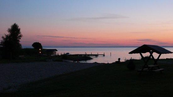 Haffhus Hotel & Ferienanlage: Sonnenuntergang