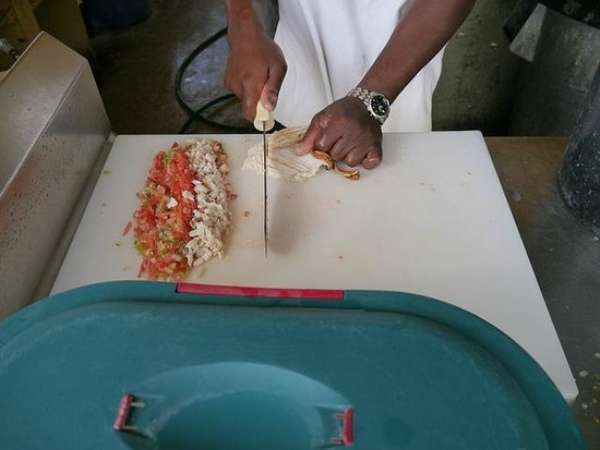 Billy Joe's On the Beach: conch salad almost ready