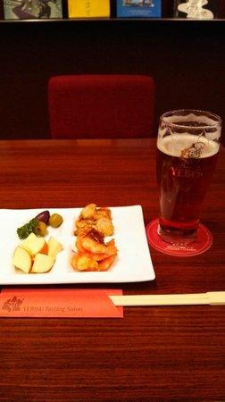 Museum of Yebisu Beer: 琥珀ビールとつまみ