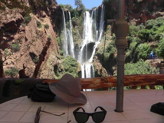 Ouzoud Falls: vista dalla Terrazza di uno dei posti splendidi dove rifocillarsi...