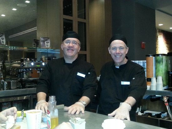 The Manhattan at Times Square Hotel : John & William at the Grab & Go Breakfast Bar