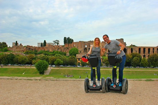 Rolling Rome Tours & Rents: Rolling Rome Segway Tour - Palatine Hill at the back