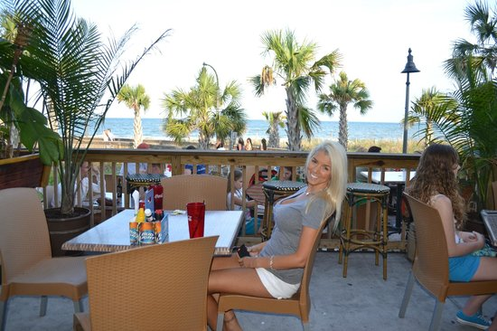 8th Ave Tiki Bar & Grill: Ocean Front Dining out Back Along the Boardwalk