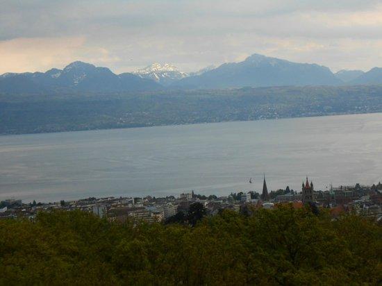 Sauvabelin Tower : Vue de la tour sur Lausanne