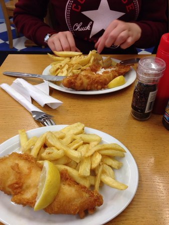 Seafoods Traditional Fish & Chips: 2 for £10 very tasty!
