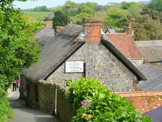 The Bat's Wing, Godshill and The Lace Shop: Path down from the church