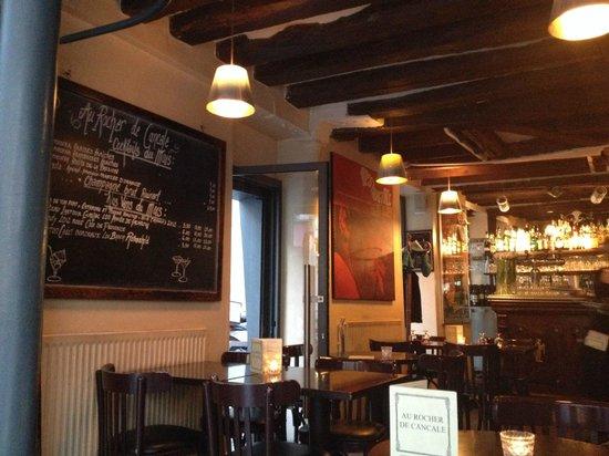 Au Rocher de Cancale: menu scritto a mano