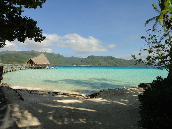 Le Taha'a Island Resort & Spa : Vista da entrada