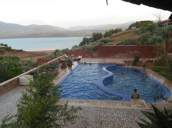 Hotel Bin el Ouidane : vue du balcon de l'appart